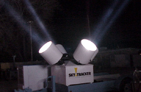 Skytracker at night